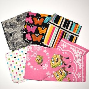 5 Set of Bandannas Bundle Scarves